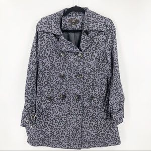 Luii Purple Cheetah Double Breasted Jacket Small